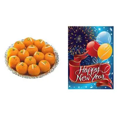 Laddu with New Year Card