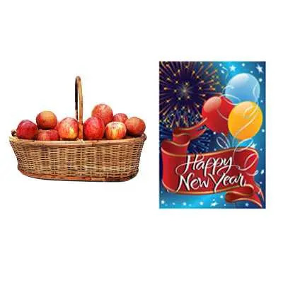 Apple Basket with New Year Card