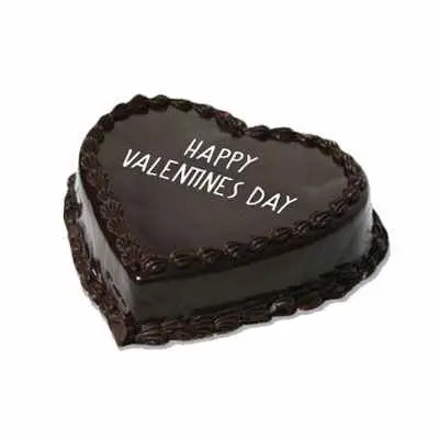Valentine Chocolate Heart Shape Cake