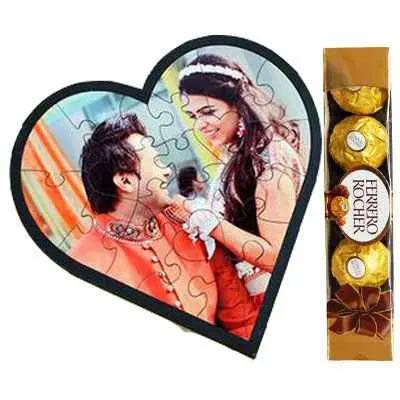 Personalized Love Puzzle & Ferrero