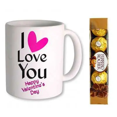 I Love You Valentine Day Mug & Ferrero