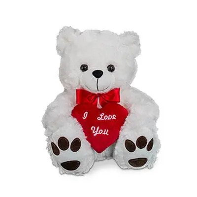 I Love You Cute White Teddy Bear