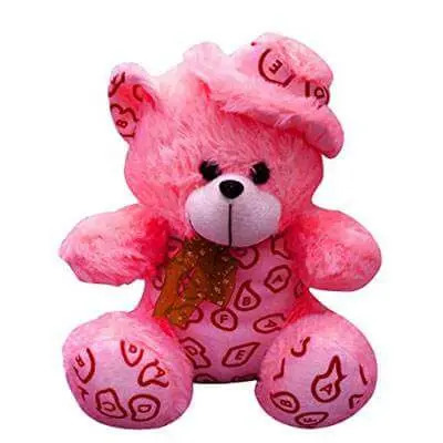 Happy Pink Teddy Bear