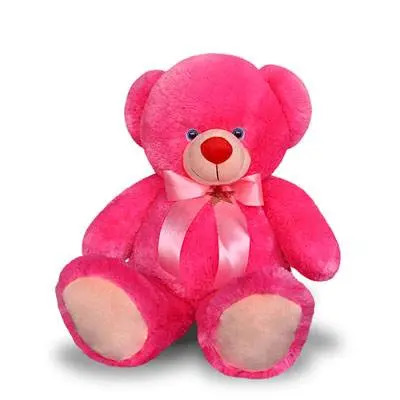 Happy Face Pink Teddy Bear