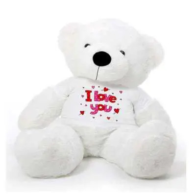 I Love You White Big Teddy Bear