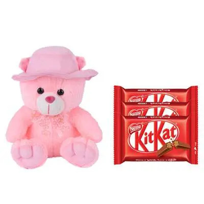 16 Inch Teddy Bear with Kitkat