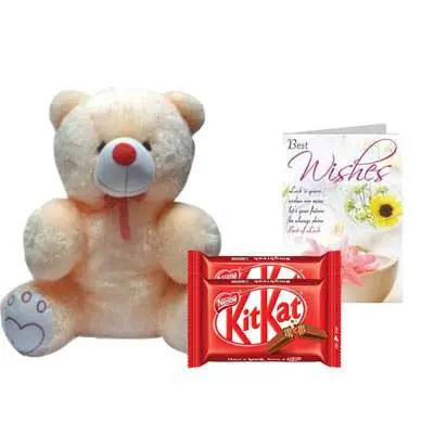 20 Inch Teddy with Kitkat & Card