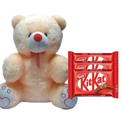20 Inch Teddy with Kitkat