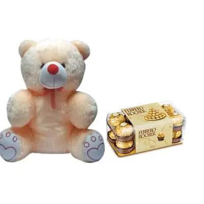 20 Inch Teddy with Ferrero Rocher
