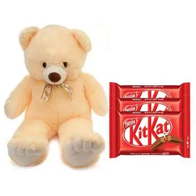 24 Inch Teddy with Kitkat