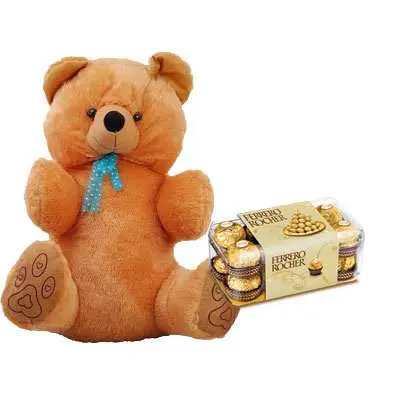 40 Inch Teddy with Ferrero Rocher