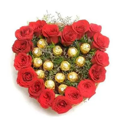 Roses with Ferrero Rocher