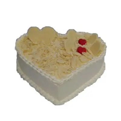 Heart Shape White Forest Cake