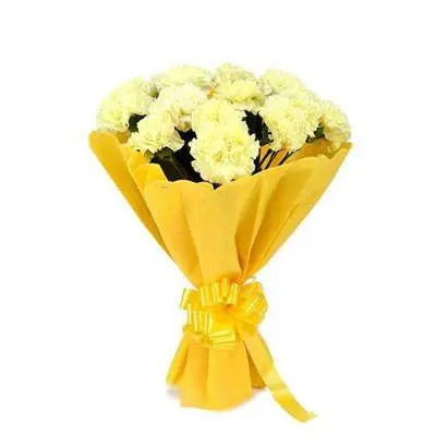 Yellow Carnation Bouquet
