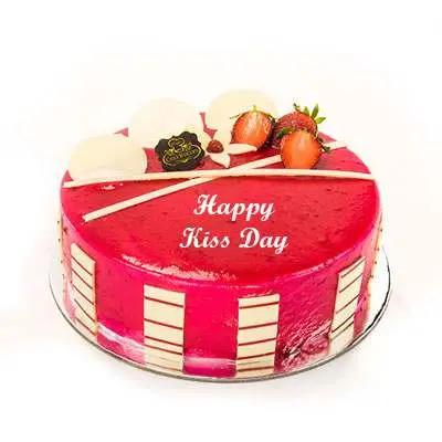 Kiss Day Strawberry Cake