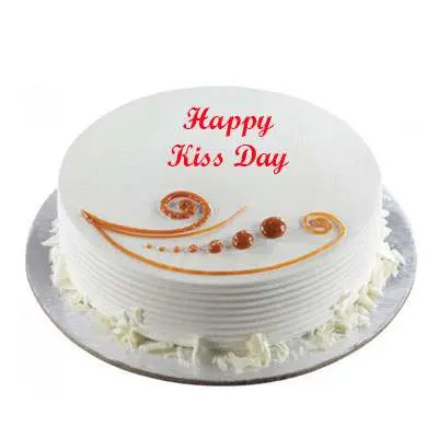 Kiss Day Vanilla Cake
