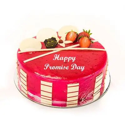 Promise Day Strawberry Cake