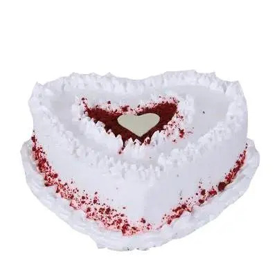 Red Velvet Cream Heart Cake