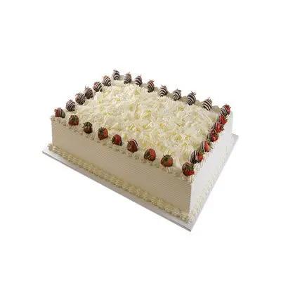 Eggless Vanilla Square Cake