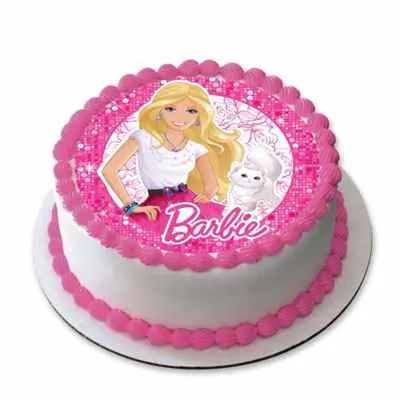 Barbie Doll Photo Cake