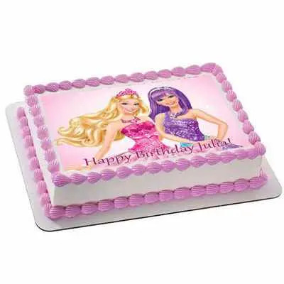 Barbie Doll Photo Cake Square