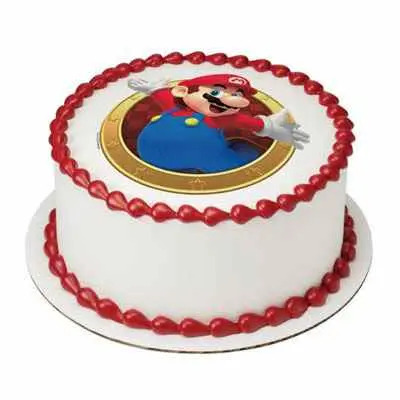 Mario Photo Cake