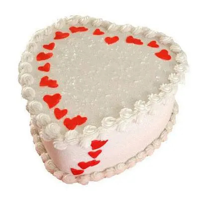 Heart White Forest Cake