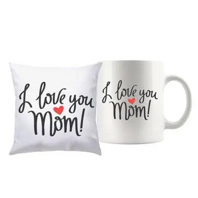I Love you Mom Mug & Cushion