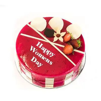 Womens Day Strawberry Cake