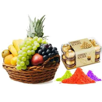 Mix Fruits with Gulal & Ferrero