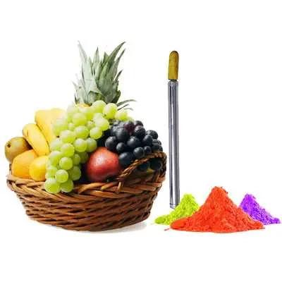 Mix Fruits with Gulal & Pichkari