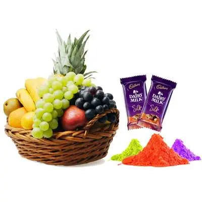 Mix Fruits with Gulal & Silk