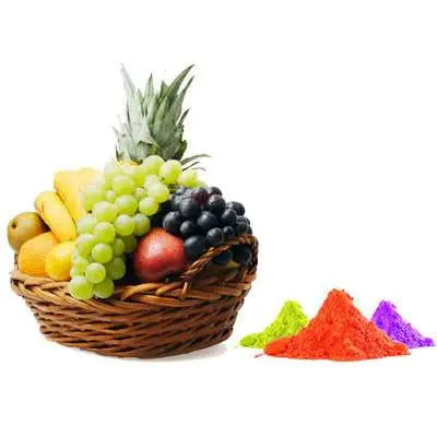 Mix Fruits with Gulal