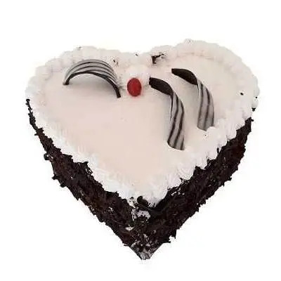 Eggless Heart Black Forest Cake