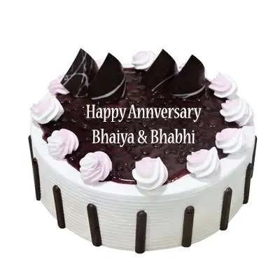 Bhaiya Bhabhi Anniversary Blueberry Cake