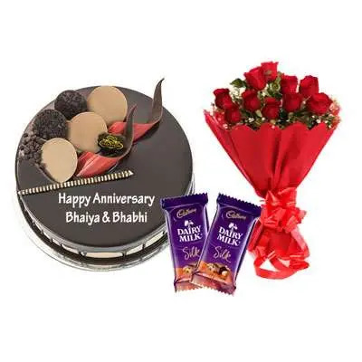Chocolate Cake, Bouquet & Silk