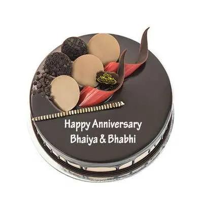 Bhaiya Bhabhi Anniversary Chocolate Cake