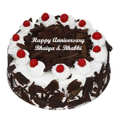 Anniversary Eggless Black Forest Cake
