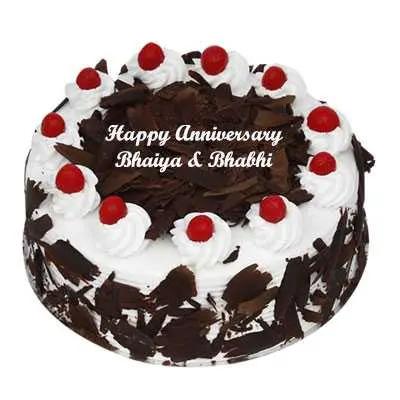 Anniversary Eggless Black Forest Cake
