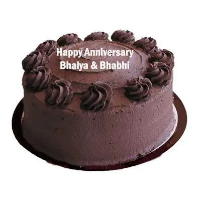Anniversary Eggless Chocolate Cake