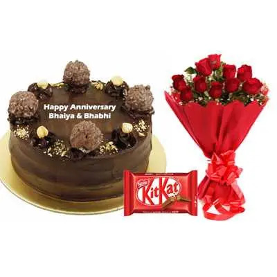 Ferrero Rocher Cake, Bouquet & Kitkat