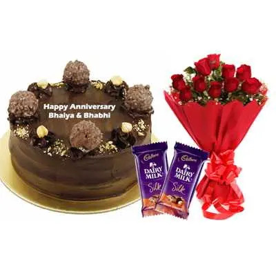 Ferrero Rocher Cake, Bouquet & Silk