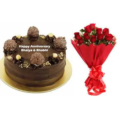 Ferrero Rocher Cake & Bouquet
