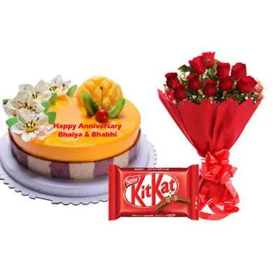 Fruit Cake, Bouquet & Kitkat