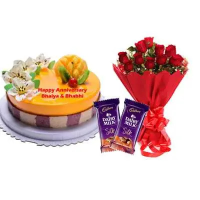 Fruit Cake, Bouquet & Silk