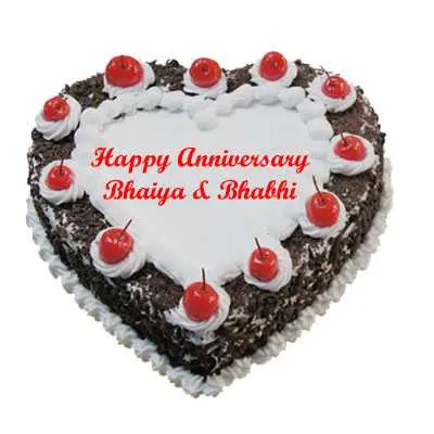 Anniversary Heart Black Forest Cake