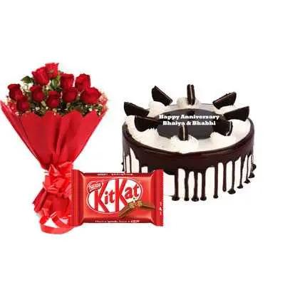 Oreo Cake, Bouquet & Kitkat