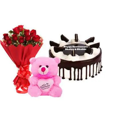 Oreo Cake, Bouquet & Teddy