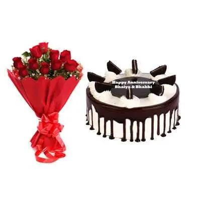 Oreo Cake & Bouquet