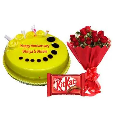 Pineapple Cake, Bouquet & Kitkat